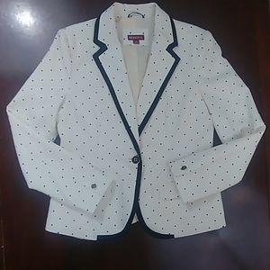 Merona Off Whit Cream Polka Dot Spot Blazer Jacket